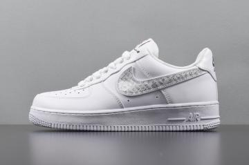 53284cfb8d Nike Air Force 1 07 LV8 JDI LNTC Low Just Do It White Clear BQ5361-100