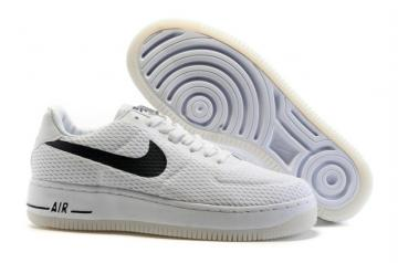 los angeles 906be eeb66 Nike Air Force 1 AF1 Low Upstep BR Sneakers Shoes White Black 833123