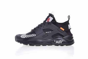 65ef070096d29 Off White x Nike Air Huarache Ultra Black Running Shoes AA3841-001