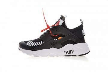7e9226c1b11a Off White x Nike Air Huarache Ultra Black White Orange AA3841-001