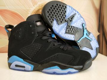 dfa1225d518b Nike Air Jordan VI 6 Retro Unisex Basketball Shoes Black White Blue 543390