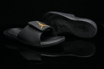 06e9248af41 Nike Jordan Hydro 6 Black Gold Men Sandal Slides Slippers 881473-033
