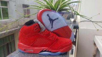 d7dc178c86e Nike Air Jordan V 5 Retro Kid Basketball Shoes Chinese Red All Black