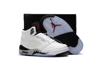 904409bbc2 Nike Air Jordan V 5 Retro Kid Children Basketball Shoes All White Black New