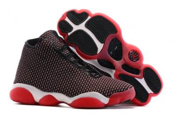 d6b5f4b7965f07 Nike Air Jordan Horizon Bred Black Gym Red Men Shoes 823581-001