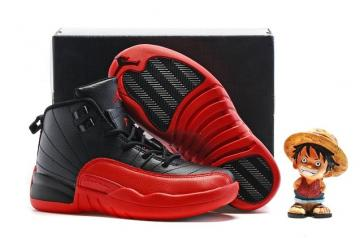c98cefded5b Nike Air Jordan Retro 12 XII BG GS Kids Flu Game Black Varsity Red 153265  002
