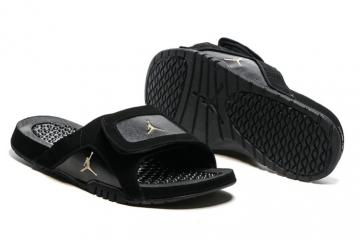 6d52cc3ea17 Nike Jordan Hydro XII Retro Men Sandals Slides Black Gold 820265-012