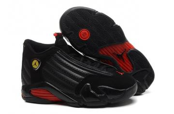 3b278930ebef0d Nike Air Jordan Retro 14 Last Shot Black Red Basketball Shoes 311832 010