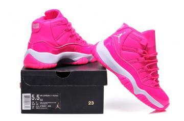 the latest e4cc2 1b4e4 Nike Air Jordan Retro XI 11 Pink White Women Shoes 378038