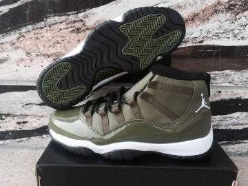 691d1b2292f Nike Air Jordan XI 11 Retro olive green Men basketball Shoes 378037-421