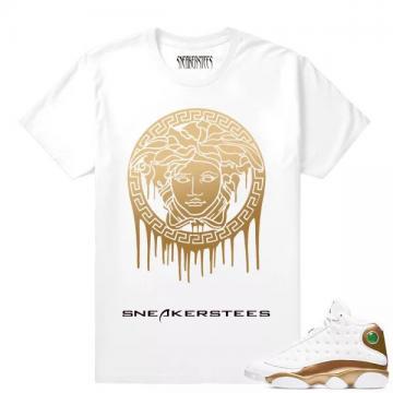 556730aa521 Match Air Jordan 13 DMP Medusa Drip White T shirt
