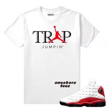 f62b56c88f7 Match Jordan 13 OG Chicago Trap Jumpin White T-shirt