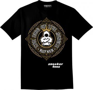 Jordan 4 Royalty Shirt Designer Gold Black a97c219e4