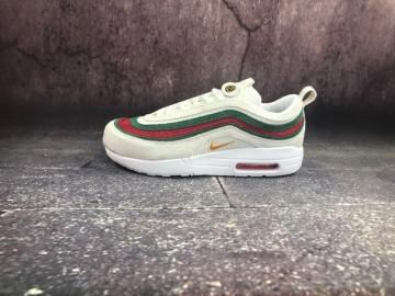 1dc0d13972 Nike Air Max 1 97 VF SW Seanwotherspoon White Green Red AJ4219-163