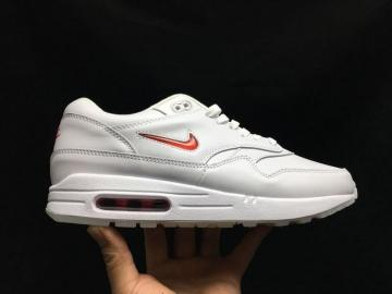 innovative design 2320f de3ee Nike Air Max 1 SC Jewel White Red Casual Sneakers 918354-104