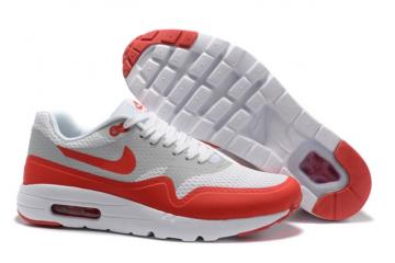 Nike Air Max 1 Ultra Essential Red Grey White Men | Shopee