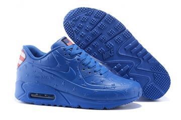innovative design 8aba0 18ce0 Nike Air Max 90 VT USA Independance Day Men Shoes Royal Blue Dot 472489-064