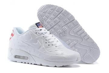 detailed look 190c1 3cf5e Nike Air Max 90 VT USA Independance Day Men Shoes White Dot 472489-060