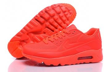 b192caf4 Nike Air Max 90 Ultra Moire Bright Crimson Men Running Shoes Trainers 819477 -600