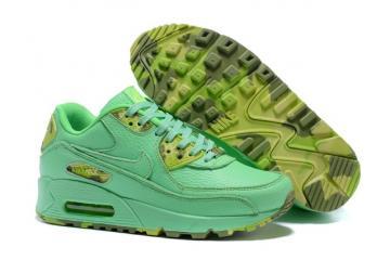 watch d54ef 5bb28 Nike Air Max 90 QS WMNS Womens Shoes Mint Green Yellow 813150-102