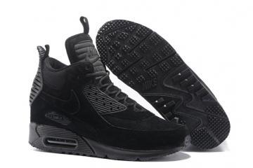 sports shoes b4da9 9181a Nike Air Max 90 Sneakerboot Winter Suede All Black 684714-016