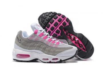9d951d90e6 Nike Air Max 95 20th Anniversary Gray White Pink Women Shoes