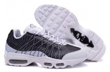 541be620b NIKE Air Max 95 Ultra JCRD White Black Grey Running Sneaker 749771-100