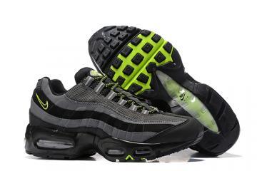 f631a64daea Nike Air Max 95 Essential Wolf Grey Black Green Men Shoes 749766