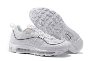 info for 8b88f fb6f0 Supreme x Nike Air Max 98 Men Shoes White Grey Reflect Silver 844694-002