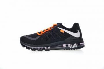9771923fc7 Nike Air Max 2015 Black Orange White Cushion Running Shoes 698902-006