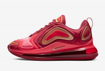 27944e345a Nike Air Max 720 Team Crimson Gold Kids AQ3195-600