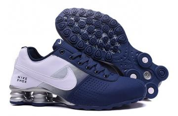 best sneakers ba150 8c7f3 Nike Shox Deliver Men Shoes Fade Dark Blue silver Casual Trainers Sneakers  317547