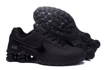 cheap for discount 08e1e 424c6 Nike Shox Deliver Men Shoes Total Black Casual Trainers Sneakers 317547
