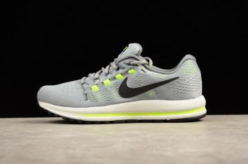 check out 13e28 fb9ee Nike Air Zoom Vomero 12 Grey Running Shoes Lace Up 863763-002