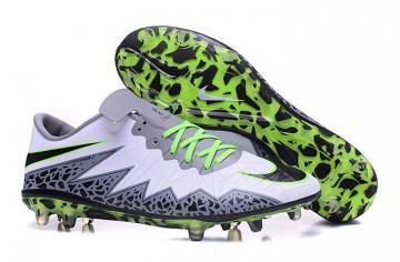 ebe9828b5b14 Nike Hypervenom Phantom II FG ACC Soccers Footabll Shoes Low White Green  Grey