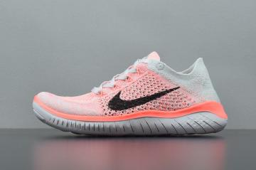 size 40 78d83 fbc76 Nike Free Rn Flyknit 2018 Pink Womens Running Shoes 942839-800