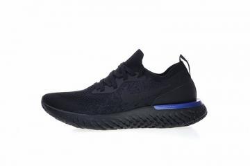 Nike EPIC React Flyknit Running White Triple Black Racer Blue AQ0067-004 4b23aa43fb4a