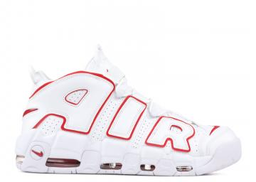 b6039f1162d7a Nike Air More Uptempo Basketball Unisex Shoes Varsityred White 921948-102