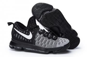 20249f7bf61d Nike KD 9 Mic Drop Men Basketball Sneakers Shoes Black White Ready to ship  843392-010