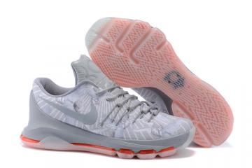 new styles 54cb2 6fa4c Nike KD VIII 8 Easter Wolf Grey Metallic Silver White Men Basketball  Sneakers Shoes 749375-002