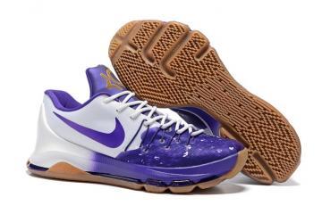 quality design 77c76 f01da Nike KD VIII 8 QS PB J Peanut Butter Jelly Men Basketball Shoes White Purple  846228-100