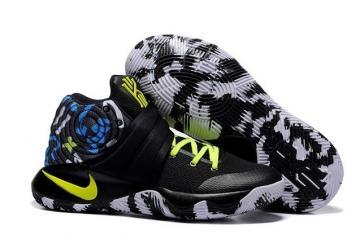 sports shoes 69d27 7fb3d Nike Kyrie 2 II EP Black Camo Blue Lemon Green Men basketball Shoes 819583  205