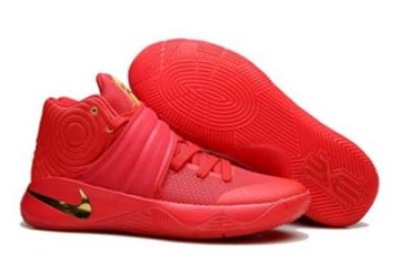 becc6264378f Nike Kyrie II 2 Pure Red Gold Men Shoes Basketball Sneakers 819583-010