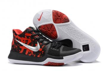 e606f0fbb6dc Nike Zoom Kyrie 3 III Samurai Mystery Drop Black Red Silver Men Shoes  852395-900