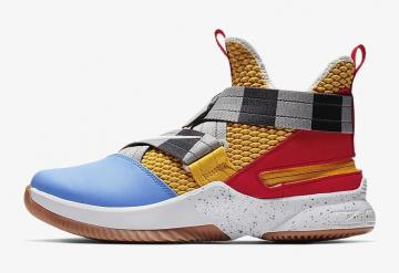 87ae04d4fae Nike LeBron Soldier 12 FlyEase University Gold University Red University  Blue White AV3812-700