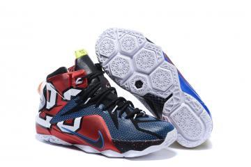 uk availability 05441 4fecb Nike Zoom Lebron XII 12 Men Basketball Shoes Red Royal Blue White 802193-909
