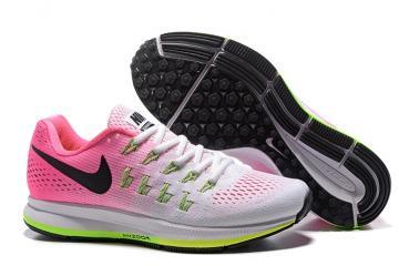bc956b84f9cd Nike WMNS Air Zoom Pegasus 33 Women Running Sneakers White Pink Green  831356-106