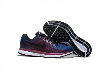 7ec0b54cc700 Nike Air Zoom Pegasus 34 EM Navy Blue Purple White Men Running Shoes  Sneakers Trainers 880555-408