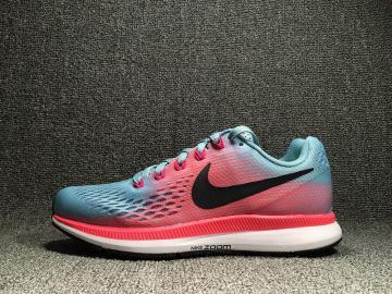 3edaf31f311e9 Nike Air Zoom Pegasus 34 Running Red Blue White 880560-406