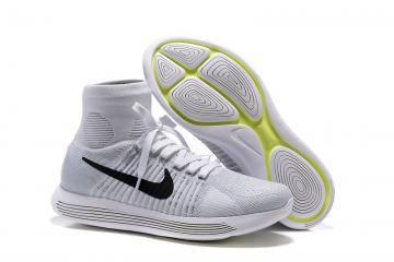 official photos dac5c 9fc85 Nike Lunarepic Flyknit Pure White Silver Black Men Running Shoes Sneakers  Trainers 818676-102
